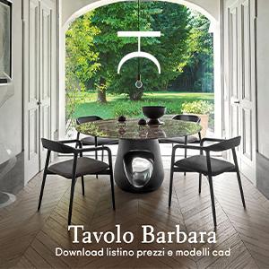 Tavolo Barbara di Horm: download listino e modelli cad