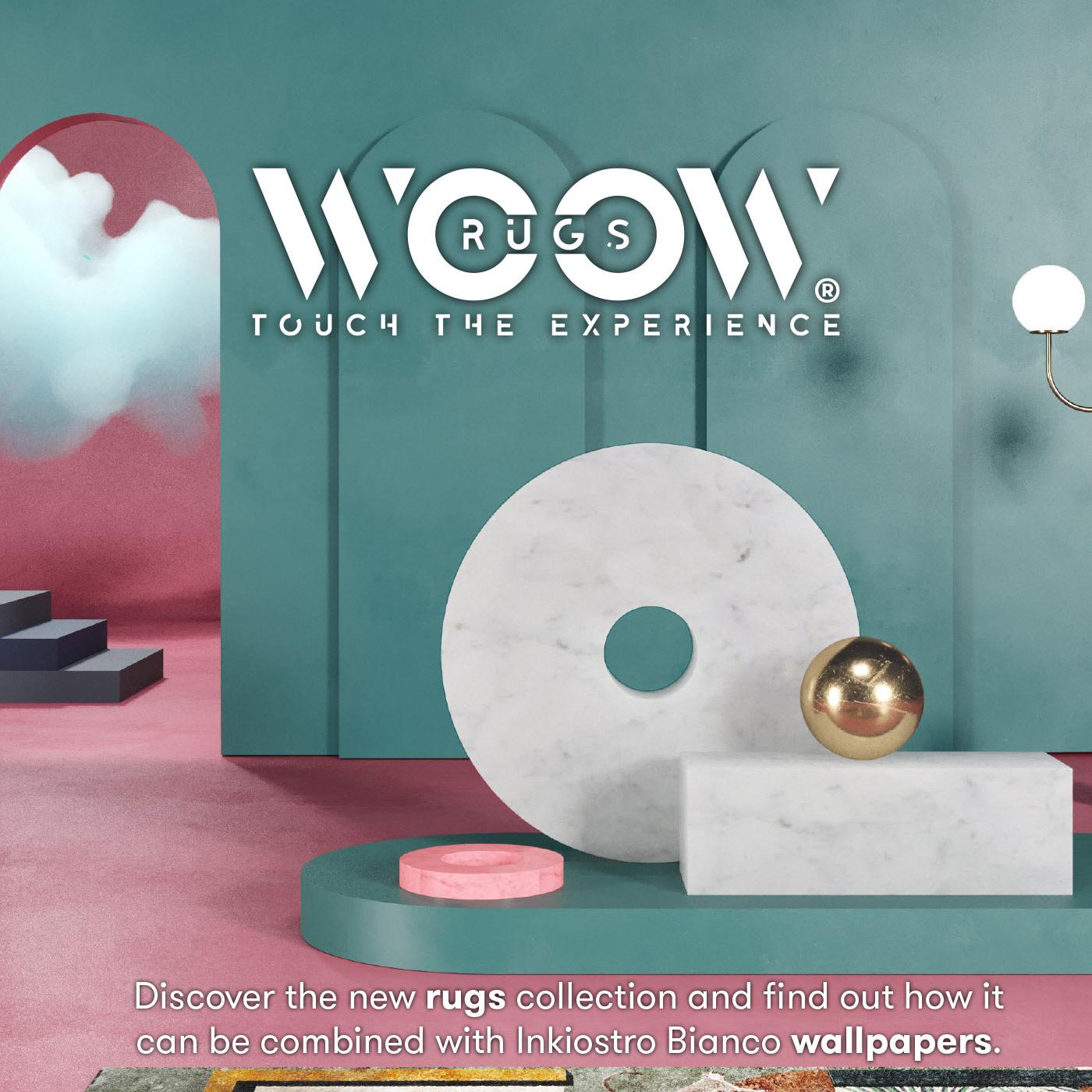 Tappeti Woow Rugs: la nuova linea di Inkiostro Bianco da abbinare alle carte da parati