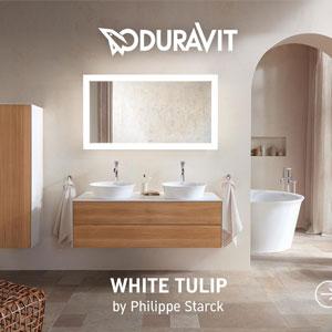 Duravit White Tulip: la nuova serie bagno creata da Philippe Starck