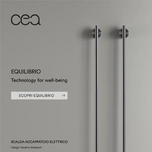 Scalda-accappatoio e scaldasalviette elettrico: EQUILIBRIO by Ceadesign