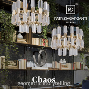 Sistema modulare di lampade: Chaos collection by Patrizia Garganti