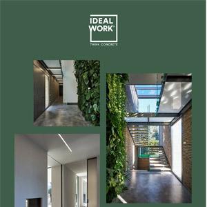 Pavimento industriale in cemento senza fughe: Ideal Work Nuvolato Architop